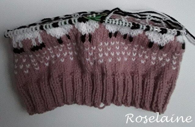 Roselaine tricot snood lama 2