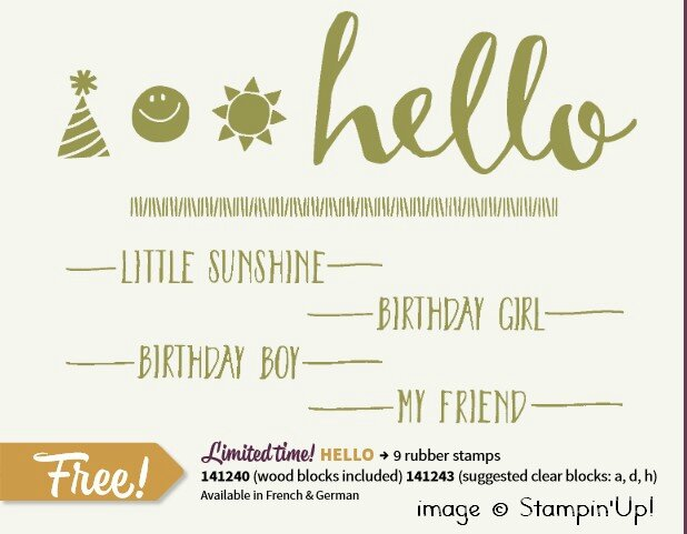 Stampinup free Hello
