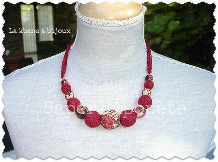 collier tissu jponais tons rouges brique et crochet1