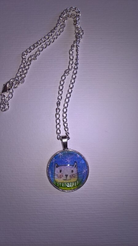 pendentif illustration chat