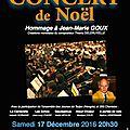 Samedi 17 et dimanche 18 décembre 2016 : concerts de l'harmonie municipale et sncf de la ville de vesoul