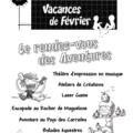 Programme des vacances de février 2010