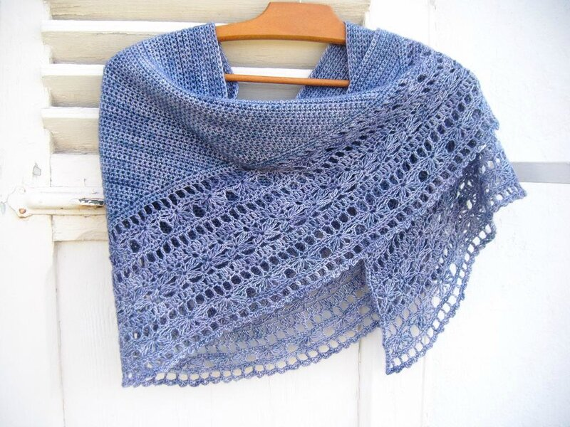 Muscari shawl crochet 072