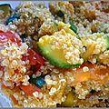 Salade de quinoa et tomate a l'indienne