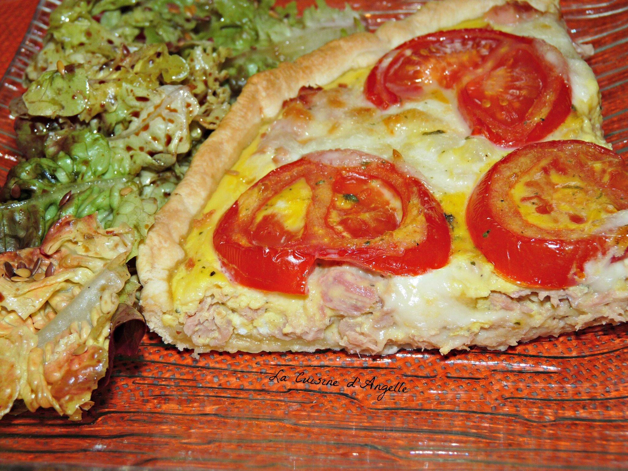 Tarte Au Thon Tomate Mozzarella Et Moutarde A L Ancienne La