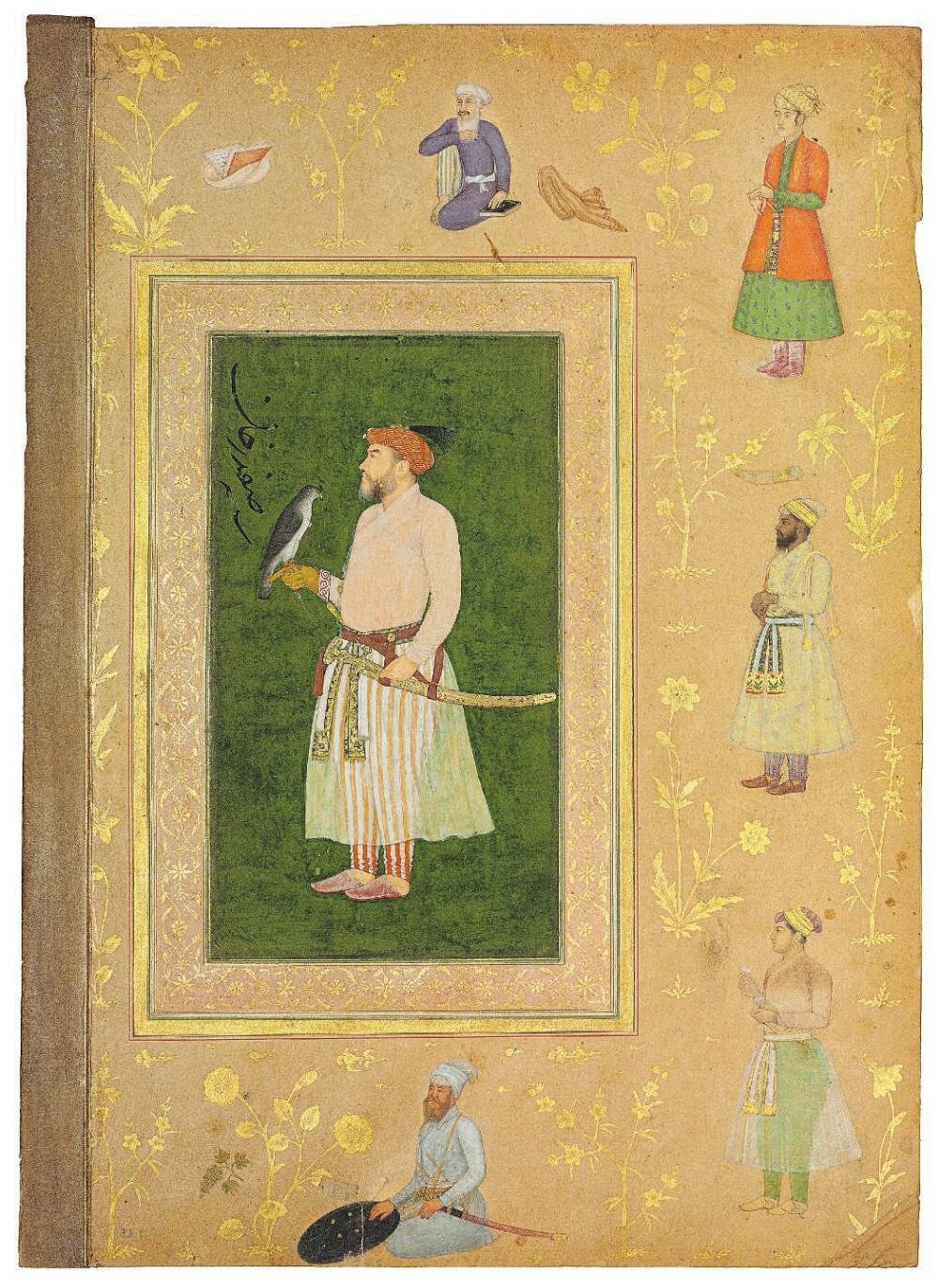 Recto with a portrait of Safdar Khan, Verso with a nasta liq quatrain. The  painting attributed to Bichitr, Mughal India, circa 1635-40  the  calligraphy ... 431ec5d91ee1