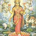 Carte porte-bonheur de la déesse