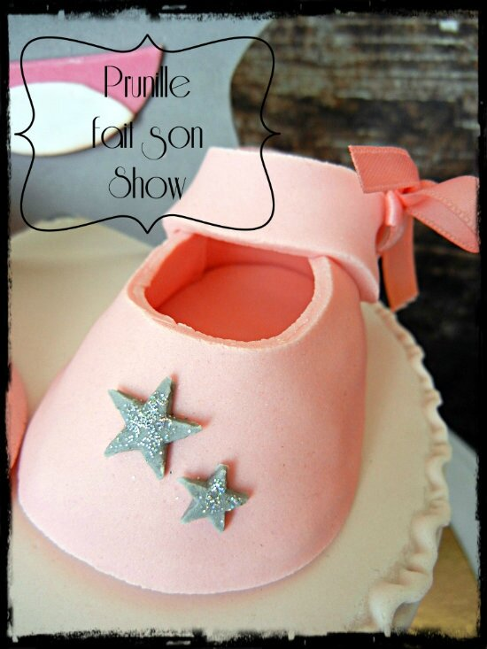 gateau baby shower fille étoile prunillefee 1