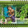 palmier cadre vert