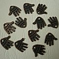 Hand made bronze 1,3cm 2€