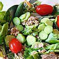 Salade thon et cornichons frais (crus)