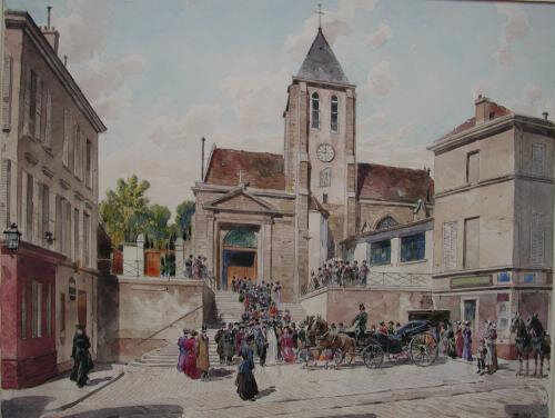 paris eglise st germain charonne XIXes