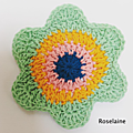 Happy flower crochet coaster by atty's