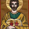Saint joseph, gardien des coeurs de jésus et de marie