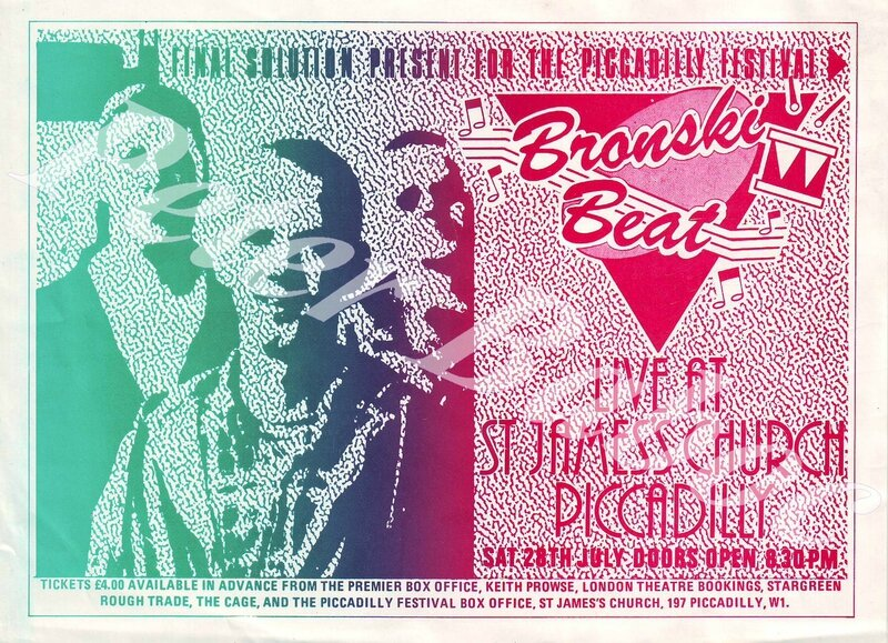 Bronski Beat StJamesChurch flyer1