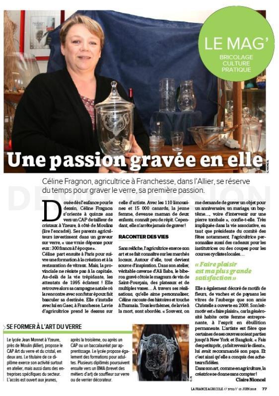 Céline Fragnon agricultrice lire l'article de Claire Nioncel La France Agricole