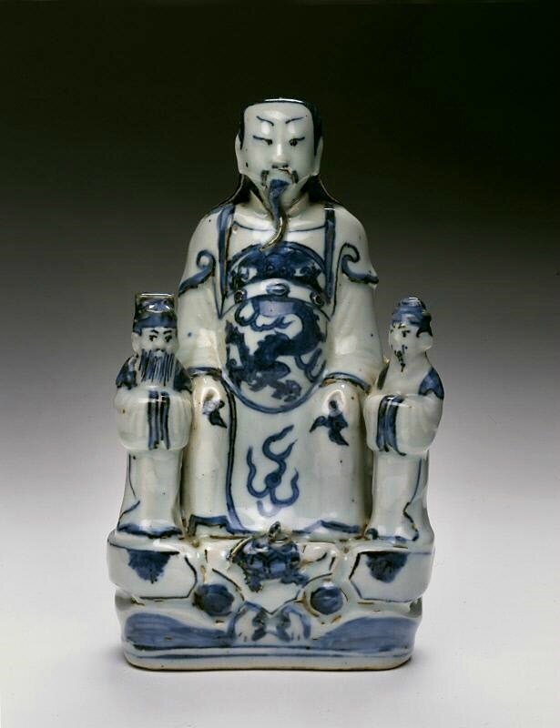 The Taoist deity Zhenwu, with two attendants, Ming dynasty (1368-1644), Reign of the Zhengde emperor (1506-1521)