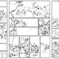 L'art préhistorique en bd - making off planches