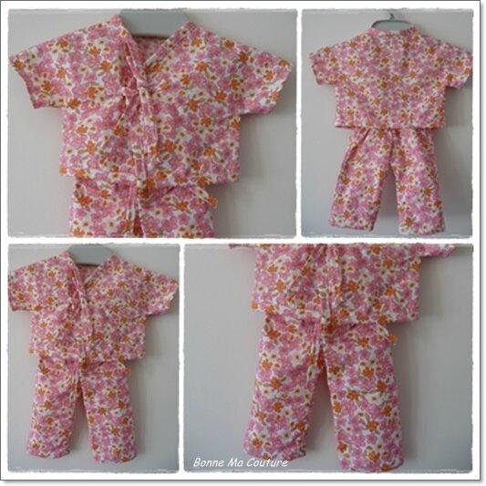 pyjama poupée