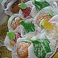 Fruits en pate d amande (figue,abricot et poire)