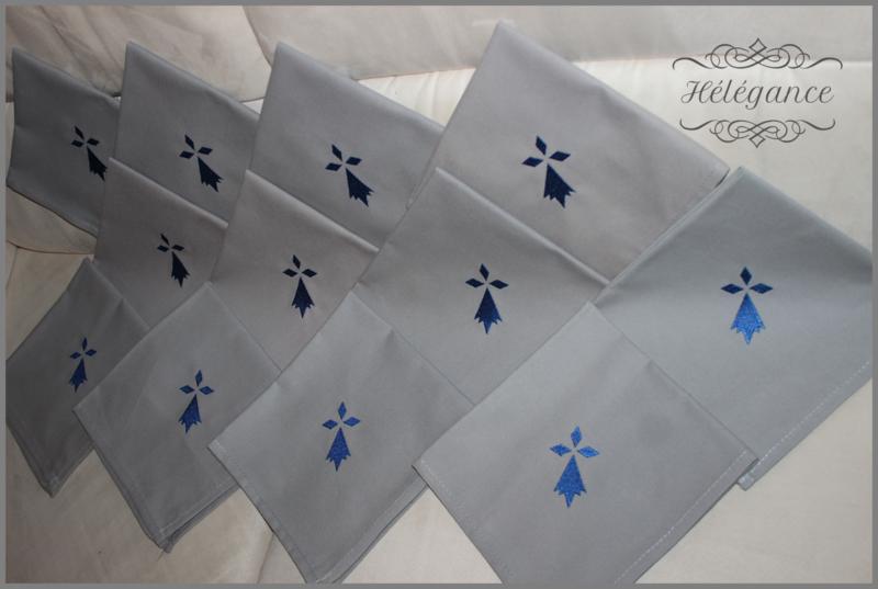 serviettes brodées 4
