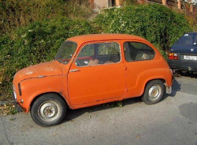 Prague, une vielle voiture