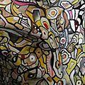 Hervé THAREL SCHMIMBLOCK'S mwanamke 2013 - acrylique sur argile 17,5cmx7,5cm (détail2)