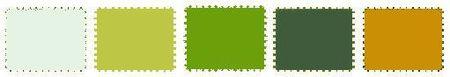 Palette dominante verte