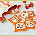 [jouet] jeu de memory en tissu : les animaux de la savane