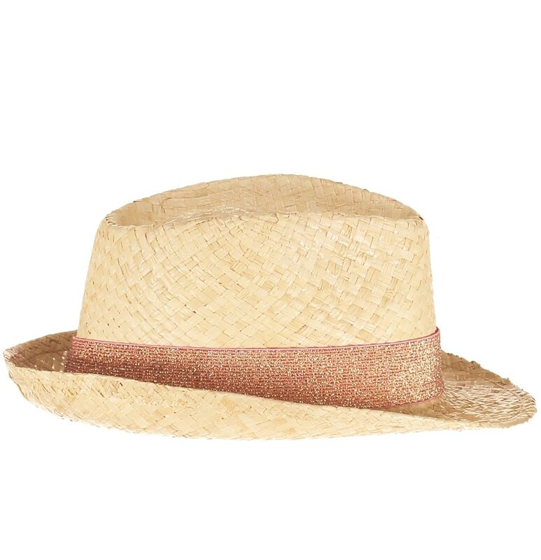 chapeau paillette rose