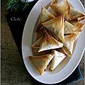 Samoussas aux protéines de soja & olives noires
