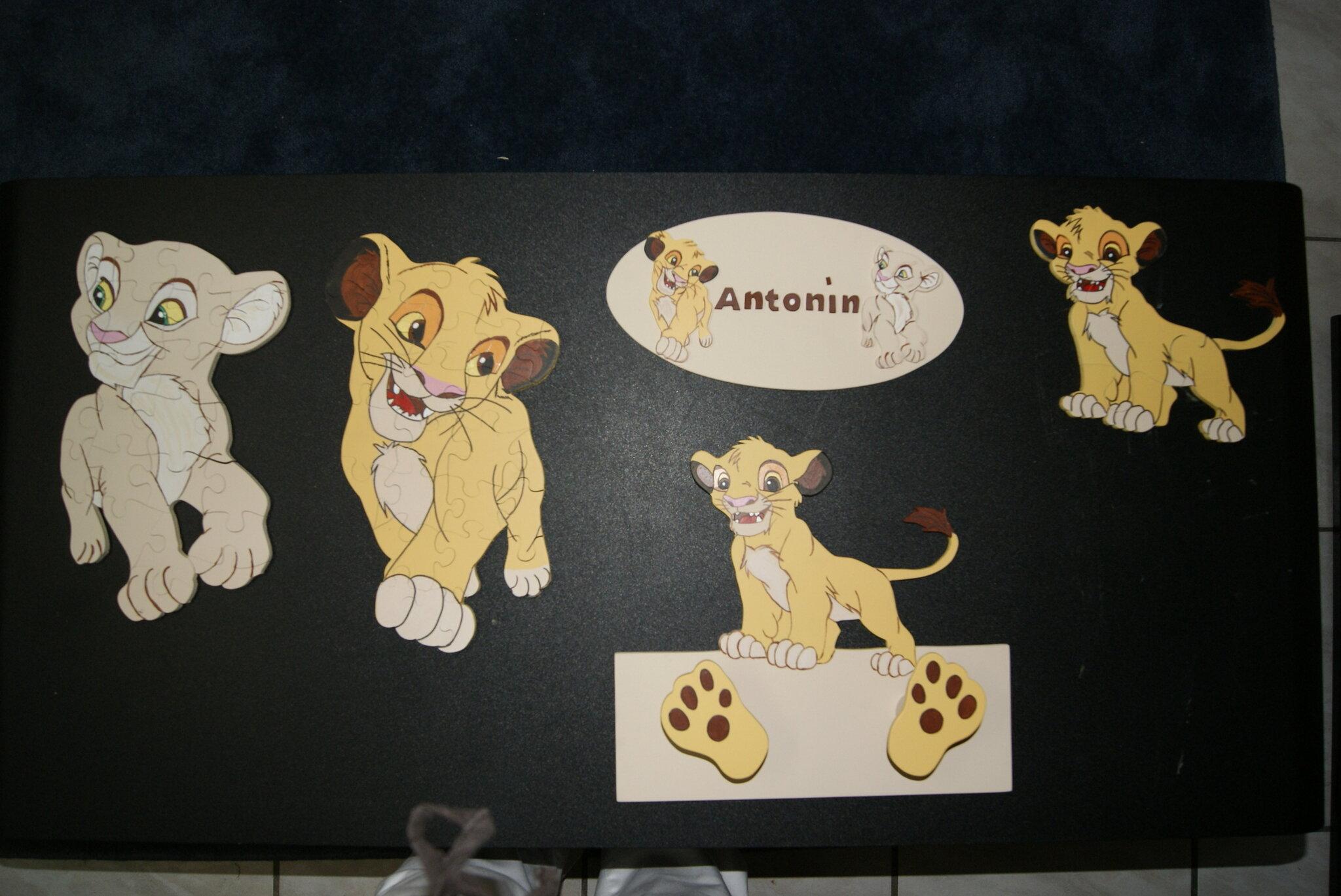 """décoration chambre et puzzles thème """"le roi lion"""" - Album photos"""