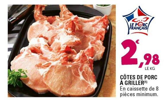 Leclerc - Côtes de Porc du 29-06 au 09-07-2016