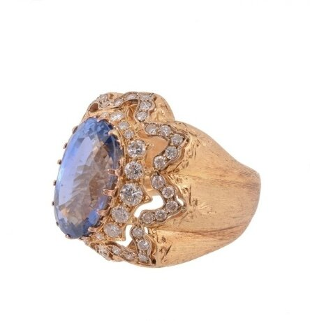 A 1960s sapphire and diamond ring by Mario Buccellati