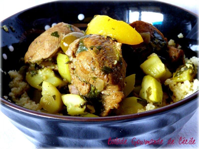 sot-l'y laisse aux courgettes, olives et citron confit