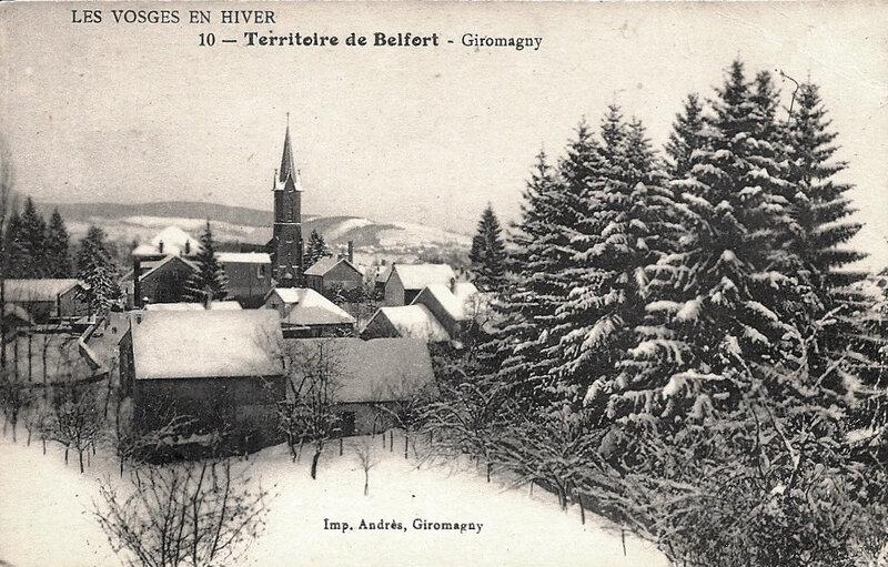 Giromagny CPA Vue générale