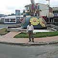 Rond-point à banos (equateur)