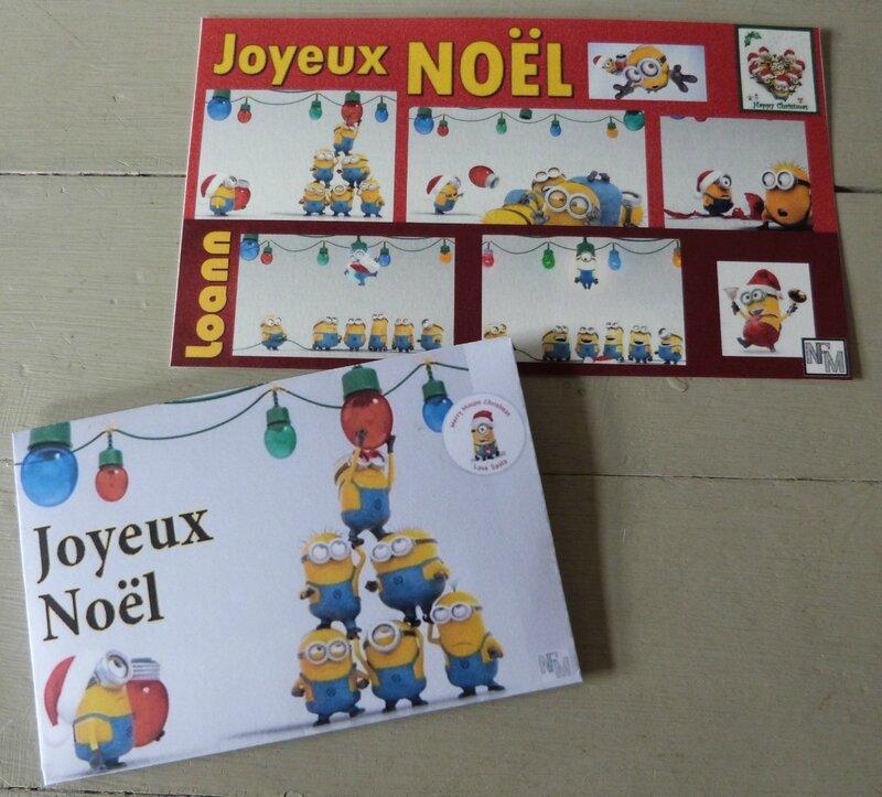 Carte et enveloppe Loann Noël 2016