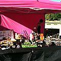 marché de Saint-Jorioz, été 2012