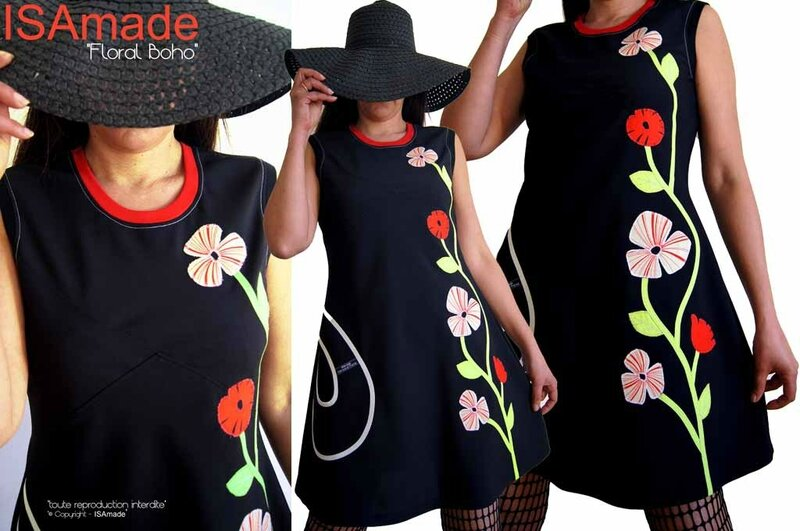 MOD-488A-robe-noire-fleurie-rouge-écru-anis-couture-printaniere-createur-sixties-habillee-elegante-chic-soiree-printemps2017-mode-femme-boutique-ligne-isamade-made-in-france