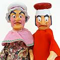 Autres jeux ... anciennes marionnettes à main * les amis de guignol