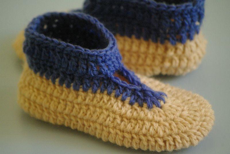 chaussons enfant au crochet