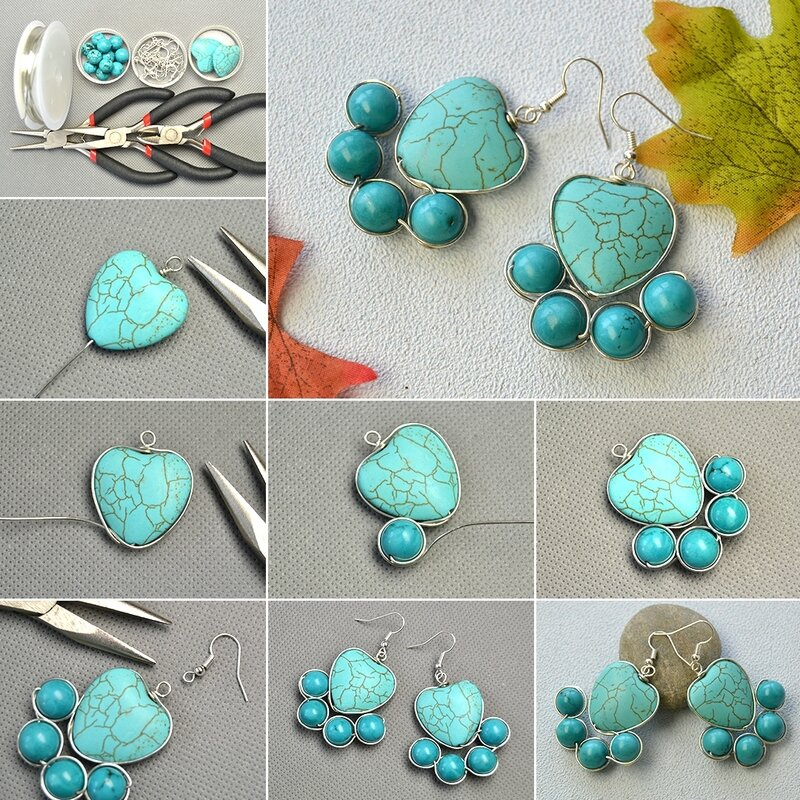1080-How-to-DIY-a-Pair-of-Heart-Turquoise-Bead-Earrings