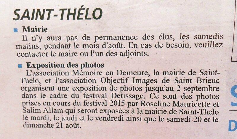 annonce expo St Thélo Courrier indépendant-1