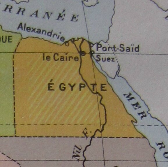Carte Egypte - Alexandrie - Port Said