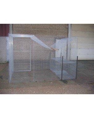 701313 corbeautiere kit 3mx2mx2m avec cage a renard