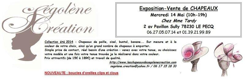 2014-05-14 Vente de chapeaux SEGOLENE CREATION Le Pecq