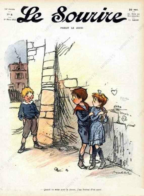 Poulbot Le Sourire enfants 1912