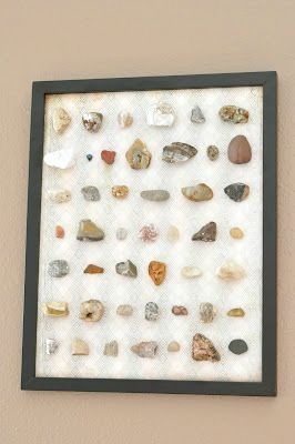 boys craft rock collection artwork tutorial