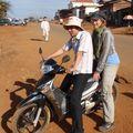 Départ en moto